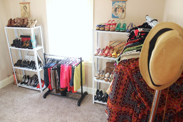 How To Organize Your Closet And Turn A Spare Room Into A Walk In Closet