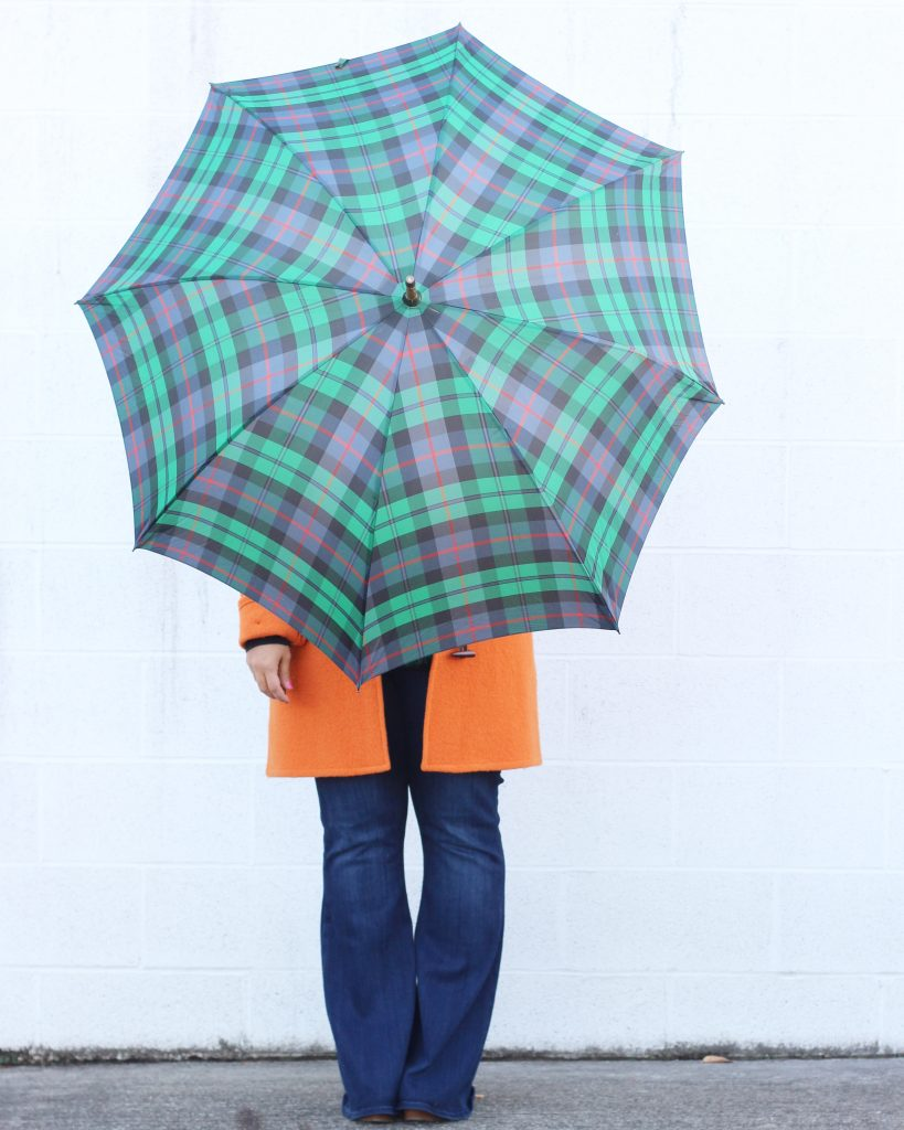 tartan umbrella plaid